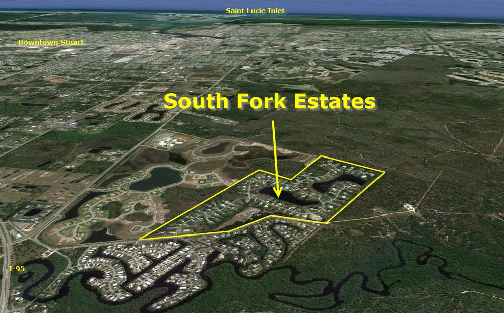 Aerial of South Fork Estates in Stuart FL