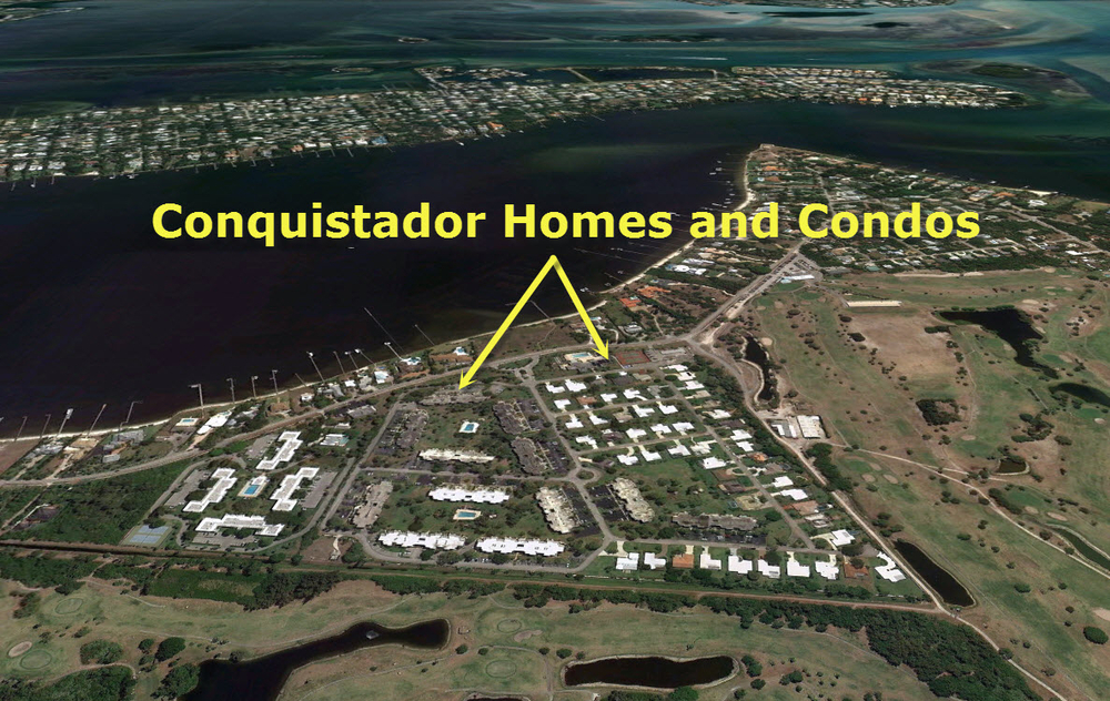 Aerial of Conquistador in Stuart FL