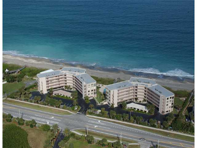 Aerial view of Ocean View Condo on Hutchinson Island