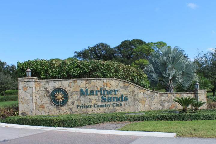 entrance to Mariner Sands Golf Club