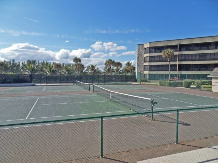 Tennis Courts of Suntide Condo on Hutchinson Island