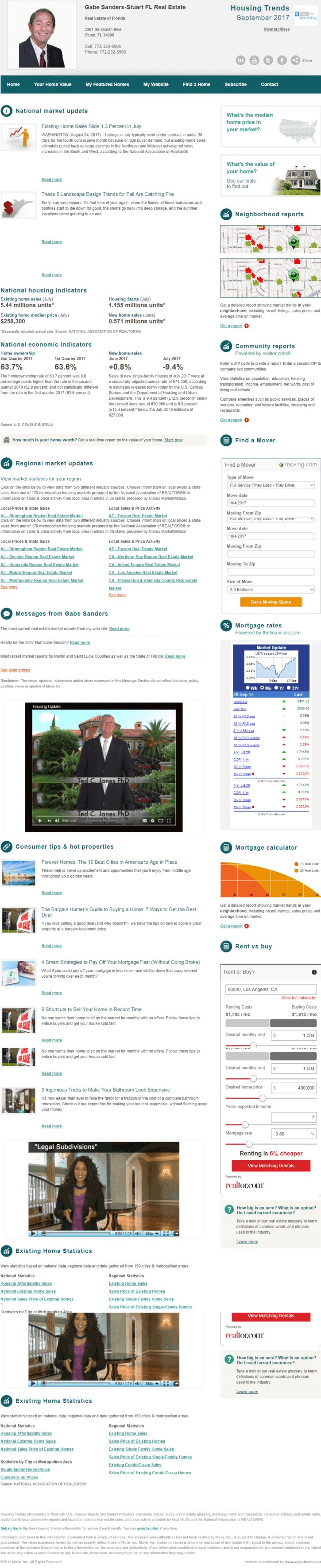 September 2017 Housing Trends eNewsletter