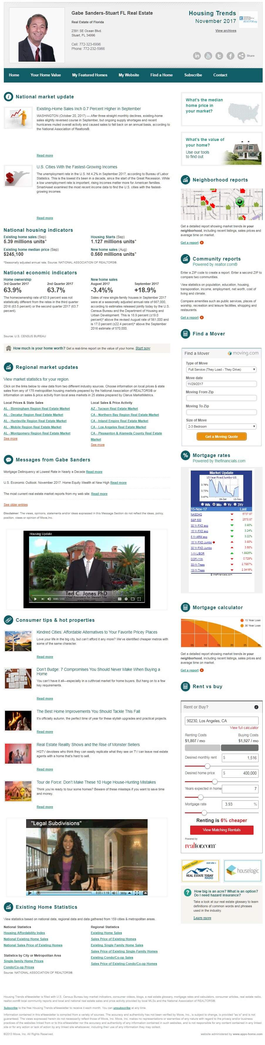 Gabe's November 2017 Housing Trends eNewsletter