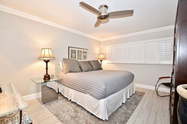 Bedroom of Sand Dollar Shores Condo in Jensen Beach