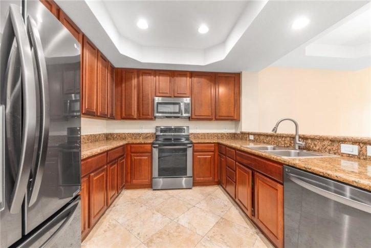 The Kitchen of this Sawgrass Villa Condo