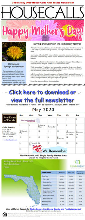 Gabe's May 2020 House Calls Real Estate Newsletter