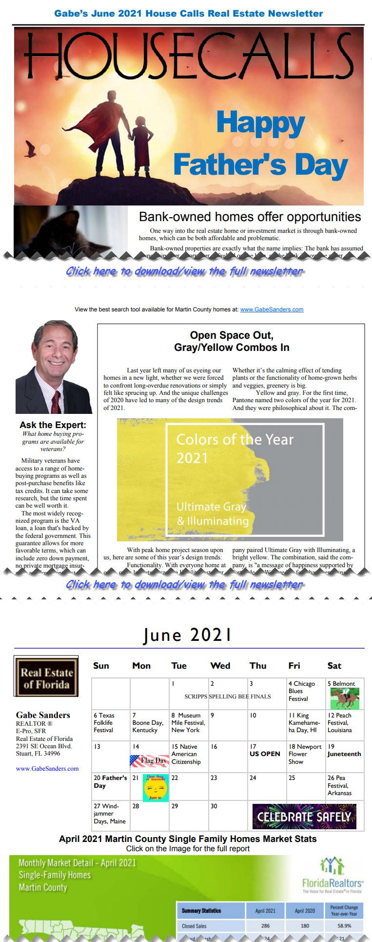Gabe's June 2021 House Calls Real Estate Newsletter