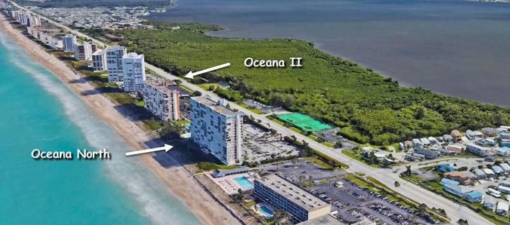 Oceana North and Oceana II condos on Hutchinson Island in Jensen Beach Florida